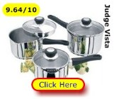 Judge Vista saucepans set