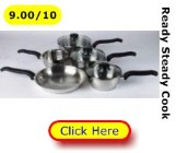 Ready Steady Cook classic stainless steel pans